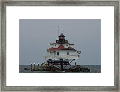 Thomas Point Shoal Lighthouse Framed Print by Paul Sutherland