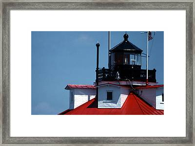 Thomas Point Shoal Ligthhouse In Md Framed Print by Skip Willits