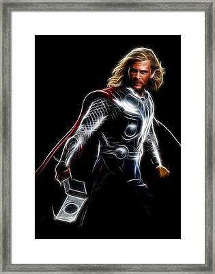Thor God Of Thunder Framed Print by - BaluX -