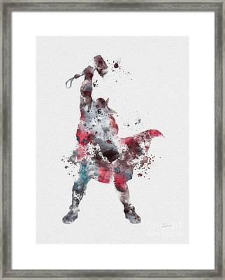 Thor Framed Print by Rebecca Jenkins