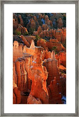 Thor's Hammer At Sunrise In Bryce Canyon Framed Print by Pierre Leclerc Photography
