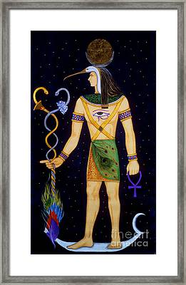 Thoth-djeheuty Framed Print by DiVeena Seshetta