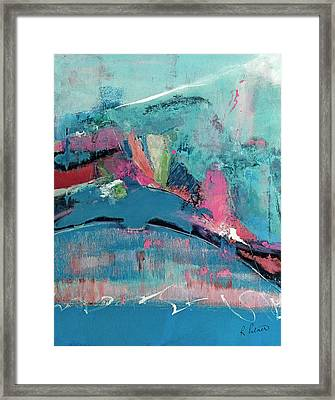Though The Mountains Be Shaken Framed Print by Ruth Palmer