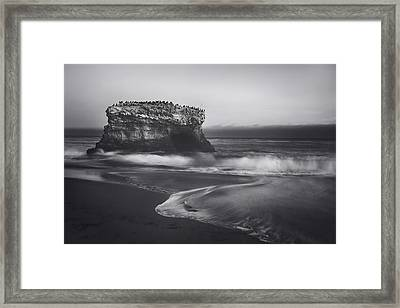 Though The Tides May Turn Framed Print by Laurie Search