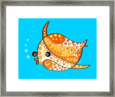 Thoughts And Colors Series Fish Framed Print by Veronica Minozzi