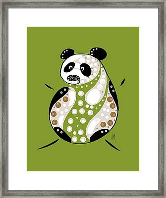 Thoughts And Colors Series Panda Framed Print by Veronica Minozzi