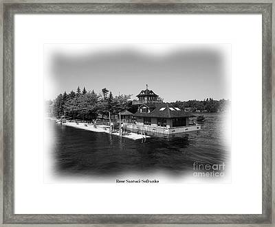 Thousand Islands In Black And White Framed Print by Rose Santuci-Sofranko