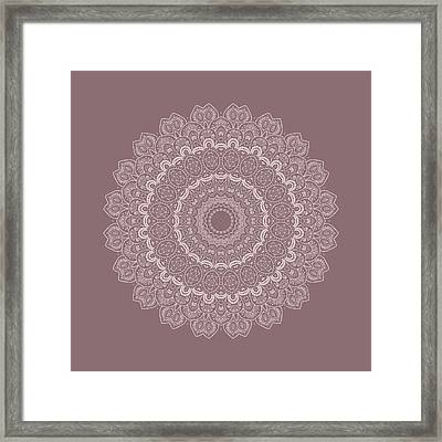 Thousands And One Nights Mandala In 3d Framed Print by Lena Photo Art