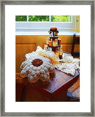 Thread Carousel And Lace Framed Print by Susan Savad