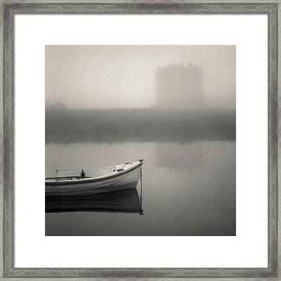 Threave Castle In The Mist Framed Print by Dave Bowman