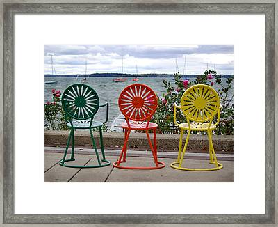 Three Amigos Framed Print by Linda Mishler