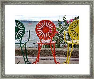 Three Amigos Ll Framed Print by Linda Mishler