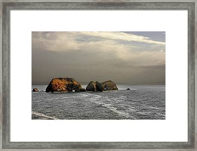 Three Arch Rocks - Oceanside Near Cape Meares - Oregon Framed Print by Christine Till