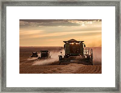Three At Work Framed Print by Todd Klassy
