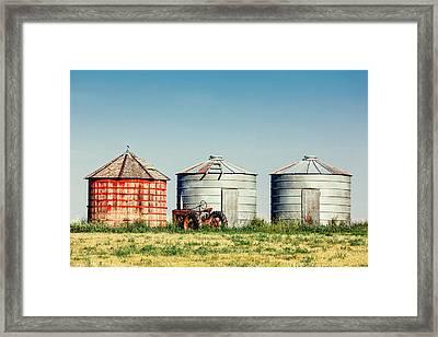Three Bins Framed Print by Todd Klassy