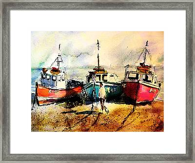 Three Boats Framed Print by Steven Ponsford