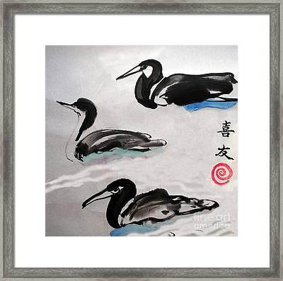 Three Ducks Framed Print by Lisa Baack
