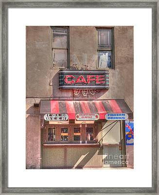 Three Forks Cafe Framed Print by David Bearden