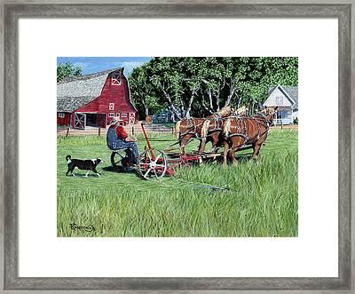 Three Horsepower Framed Print by Timithy L Gordon
