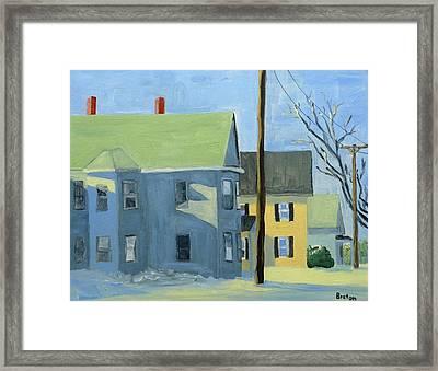 Three Houses Auburn Framed Print by Laurie Breton