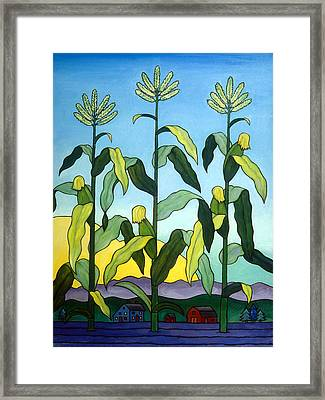 Three In A Row Framed Print by Stacey Neumiller