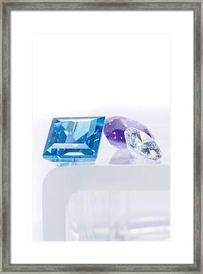 Three Jewel Framed Print by Atiketta Sangasaeng