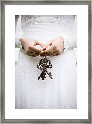 Three Keys Framed Print by Maria Heyens