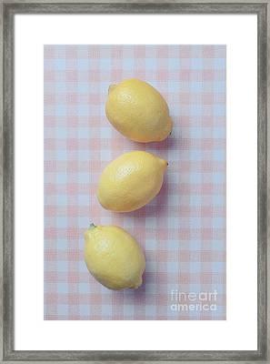 Three Lemons Framed Print by Edward Fielding