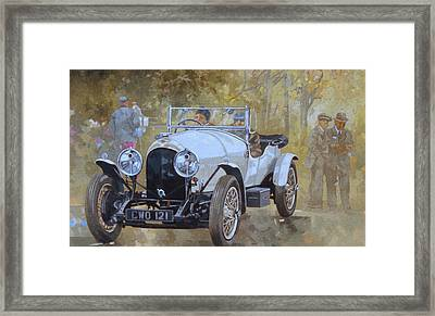Three Litre Bentley At Kelmarsh  Framed Print by Peter Miller