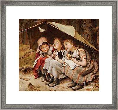 Three Little Kittens Framed Print by Joseph Clark