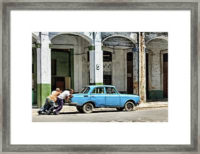 Three Man Power Framed Print by Dawn Currie
