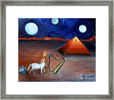 Three Moons Framed Print by Pilar  Martinez-Byrne