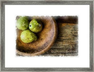 Three Pear Still Life Framed Print by Edward Fielding