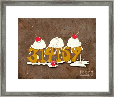 Three Scoops Of Pi Framed Print by Laura Brightwood