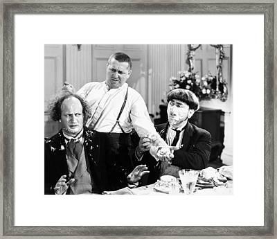 Three Stooges: Film Still Framed Print by Granger