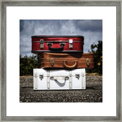 Three Suitcases Framed Print by Joana Kruse