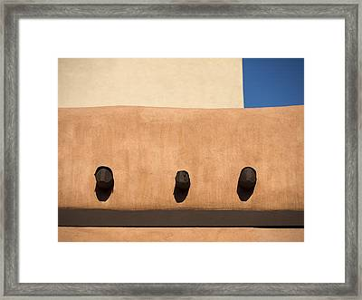 Three Vigas Framed Print by Carol Leigh