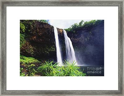 Three Waterfalls Framed Print by Peter French - Printscapes