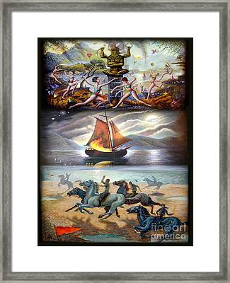 Three Ways To Win A Race Framed Print by Tighe O'DonoghueRoss