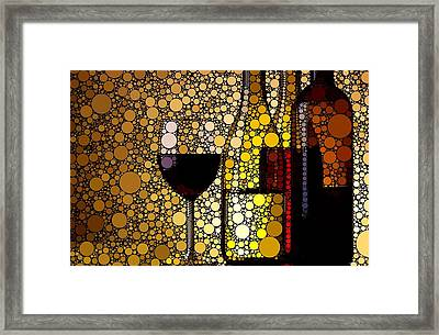 Three Wines Framed Print by Cindy Edwards