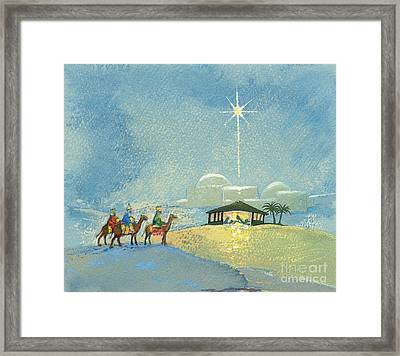Three Wise Men Framed Print by David Cooke