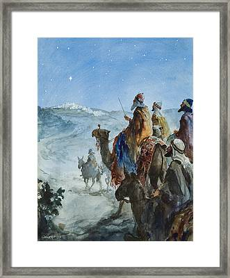 Three Wise Men Framed Print by Henry Collier