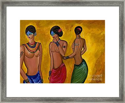 Three Women - 1 Framed Print by Sweta Prasad