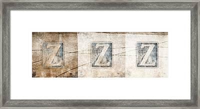 Three Zees Framed Print by Carol Leigh