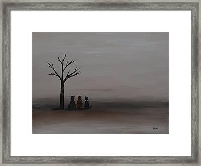 Three's Company Framed Print by Leana De Villiers