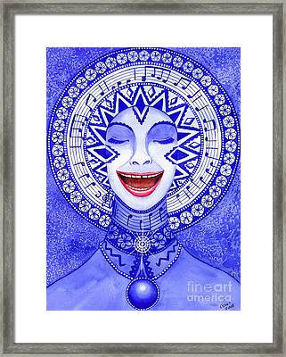 Throat Chakra Framed Print by Catherine G McElroy