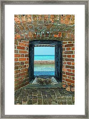 Through An Armory Window Framed Print by Kay Brewer