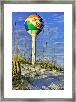 Through The Dunes Of Pensacola Beach Framed Print by JC Findley