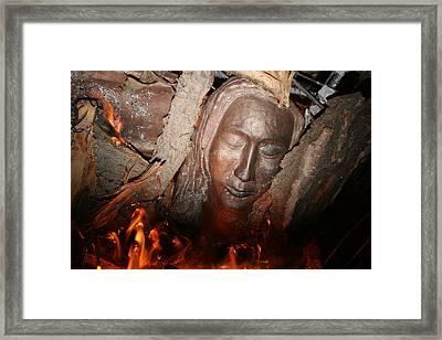 Through The Fire Framed Print by Robin DesJardins