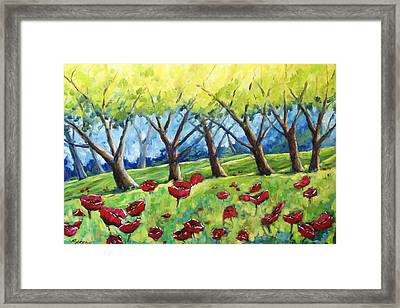 Through The Meadows Framed Print by Richard T Pranke